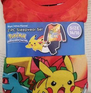 Other - Pokemon 2 pc sleepwear size 14/16 BNWT